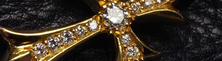 クロムハーツファットクロスダイヤ正規品