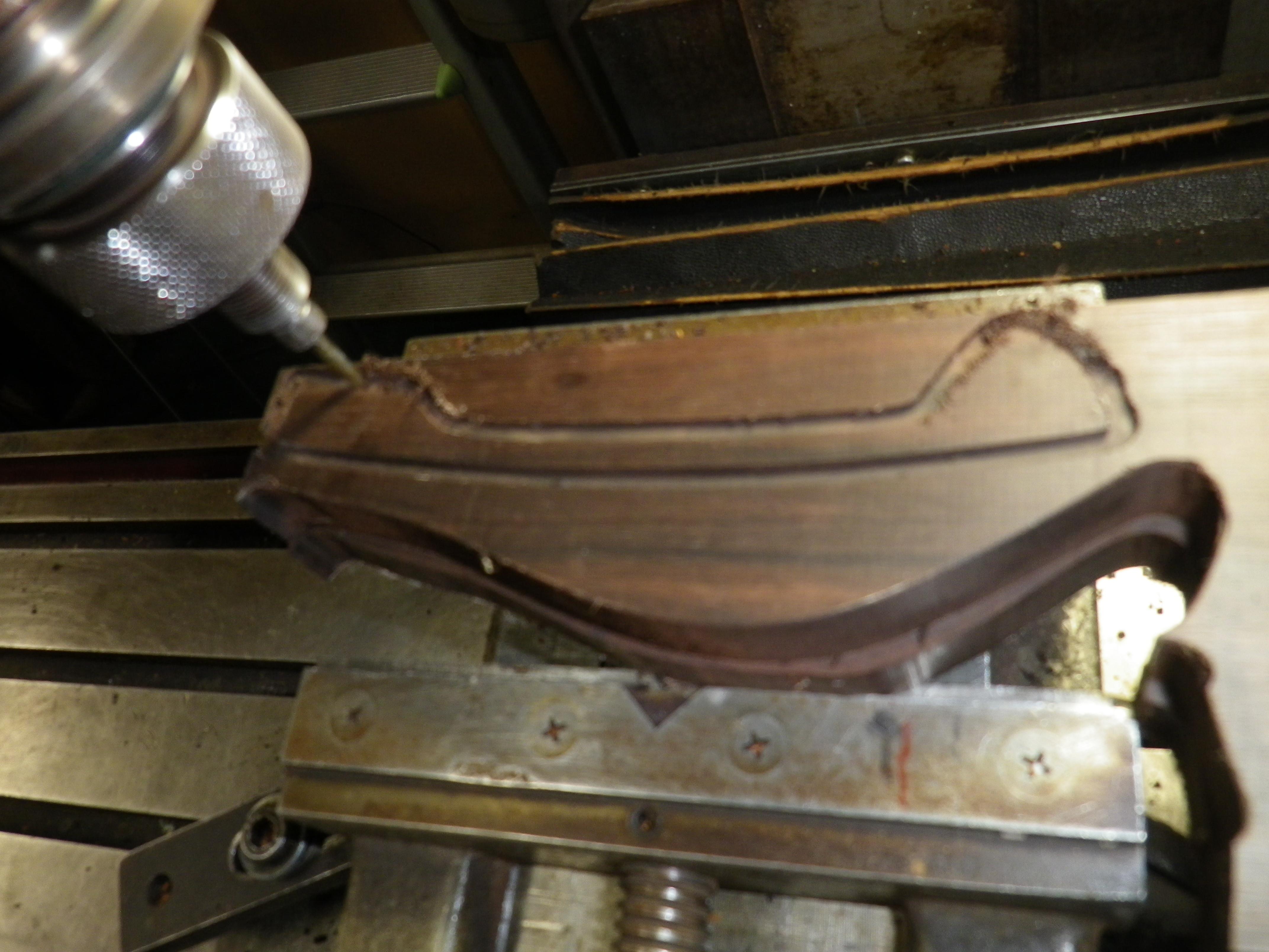 クロムハーツ 黒檀(こくたん)フレーム メガネのテンプル修理とダイヤ・カスタム