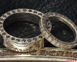 NTFLとスペーサー6mmの指輪にダイヤモンドとブラックダイヤをパヴェカスタムしました。