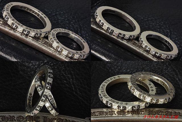 クロスの部分とダイヤの面の高さを揃えたのが、ポイントです。