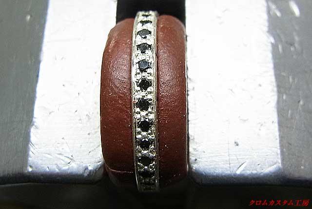 完成しました、ブラックダイヤはイブシを入れないほうが、カッコイイのでこのままです。