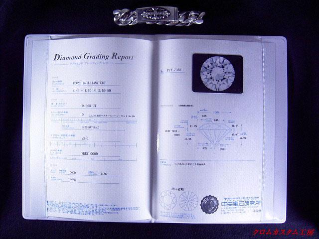 ダイヤモンドのクラスを証明する宝石鑑定書です